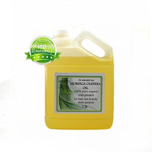 MORINGA OLEIFERA OIL BY DR.ADORABLE 100% PURE ORGANIC COLD PRESSED 128 fl.oz/ 1 GALLON /7 LB