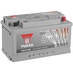 YUASA - BATTERIE YUASA YBX5110 SILVER 12V 85Ah 800A