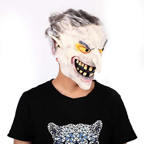 Unheimlich Kostüm Clown Böse Kind - Halloween Mask Böse Weißes Gesicht Zombie Party Maskerade Ghost Festival Bar Latex Kopfbedeckung