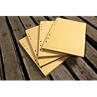 Refill kraft Paper 6 Hole Refill For leather journal planner / A5 A6 planner inserts 80 sheets (160 pages) PAX6KI