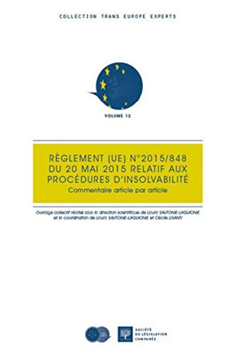 Règlement (UE) n° 848/2015 du 20 mai 2015 relatif
