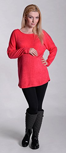 Mija – Pull de maternité a coutures Tunique 3034 Corail