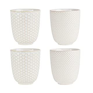 ASA Porzellan Becher, weiß, 7.5x7.5x8.2 cm, 4-Einheiten