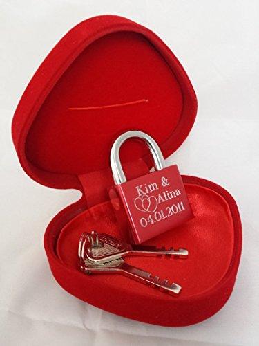 remmo love elegantes liebesschloss geschenk herzbox rot 2 schl ssel und individuelle wunsch. Black Bedroom Furniture Sets. Home Design Ideas