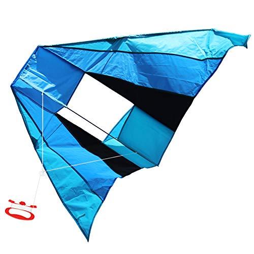 com-four® Flugdrachen in bunten Farben für Kinder - Wind-Drache mit 30 Meter Langer Schnur - Einleiner Drachen in verschiedenen Modellen [Auswahl variiert] (01 Stück - Flugdrache 183 x 81 cm)