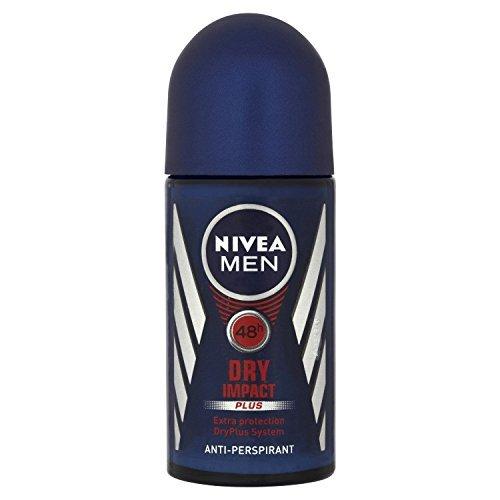 Nivea for Men Dry Impact Antiperspirant Deodorant Roll-on 50ml (3 Pack) by Nivea