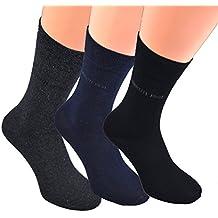 Cerruti 1881 -Calcetines de alta calidad para traje (de 3 a 36 pares) para hombre, color negro o en 3 colores oscuros (gris, azul marino, negro), talla 39/42 y 43/46