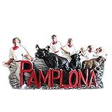 St. Fermin's Bull Festival Pamplona España Europa resina 3d fuerte imán para nevera recuerdo turista regalo chino imán hecho a mano creativo hogar y cocina decoración magnética