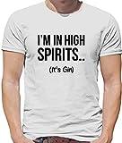 I'm In High Spirits… It's Gin Lustiges Herren T-Shirt - Weiß - L