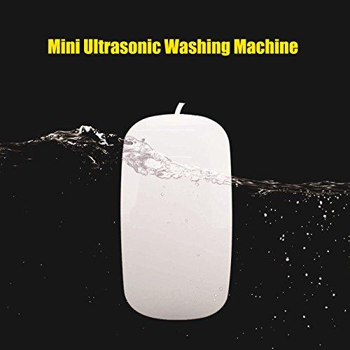 JOYOOO Mini tragbare USB elektrische Ultraschall Waschmaschine, automatische wasserdichte, verwendet für waschen Obst & Gemüse & Business Travel Set (Kleidung Ultraschall-waschmaschine)