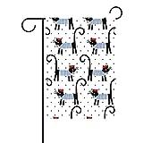 Dozili Bandiera Romantic Pet Puppy Dots Cats Home Decoration Garden Flag Resistente agli Agenti atmosferici & Doppio Yard Flag, Poliestere, Colorato, 28' x 40'