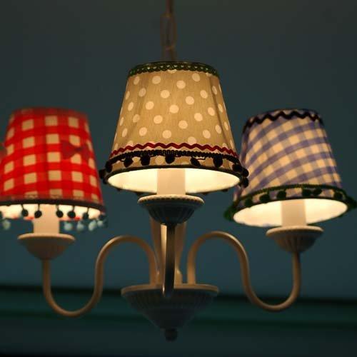 lounge-zone Lüster Kronleuchter Kinder-Kronleuchter  LEA 3 Lampenschirme - 8