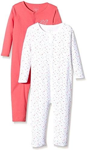 NAME IT Baby-Mädchen Schlafstrampler NITNIGHTSUIT M G NOOS, 2er Pack, Gr. 86, Mehrfarbig (Rouge Red)