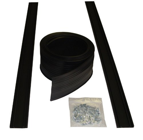 Auto Care Products 54009 9-Feet Garage Door Bottom Seal Kit with Track and Mounting Hardware by Auto Care Products (Door Seal Garage Bottom Kit)