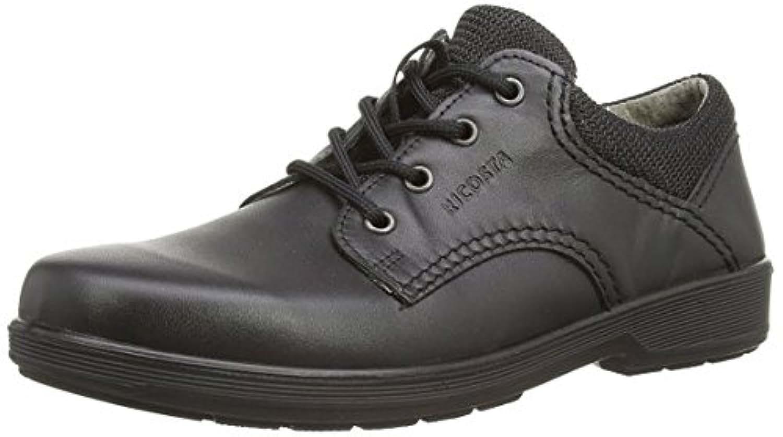 Ricosta Harry Boys Black Leather School Shoes Medium Fitting Sizes EU 34 - 43 (UK 2.0 Junior - 9.0 Senior) (Euro 34 / UK 2.0 Medium Junior, Black)