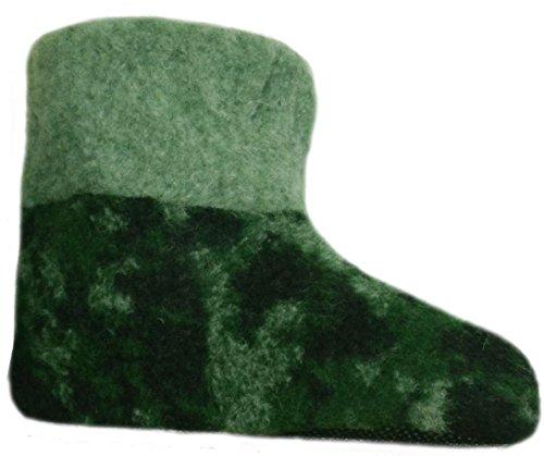 SamWo,Fußwärmer Hausschuhe aus 100% Schafwolle, Größe: 35-48 Moro