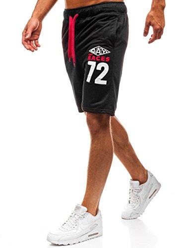 BOLF Herren Kurzehose Sporthose Shorts Sport Style Extreme EX05 Schwarz L [7G7]