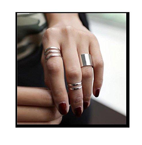 Gyjun anelli quotidiano / casual / sport gioielli lega da donna anelli midi / set 3 pezzi,regolabili oro / argento , one size
