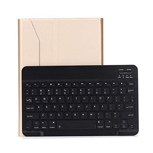UNOKS LED Color Backlit Wireless Bluetooth Keyboard, Split Flip with Protective Case, with Automatic Sleep, 78 Keys, passend für Ipad Pro10.5 - Split-tastatur-touchpad