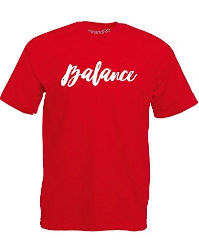 Brand88 - Brand88 - Balance, Mann Gedruckt T-Shirt Rote/Weiß