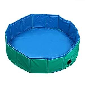 fuloon hundepool gro e hunde badewanne haustier klappbar pool bade f r haustier schwimmen pool. Black Bedroom Furniture Sets. Home Design Ideas