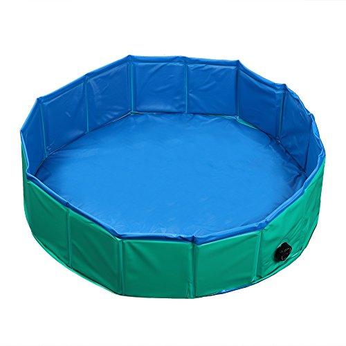 Fuloon Hundepool Große Hunde Badewanne Haustier Klappbar Pool Bade für Haustier Schwimmen Pool (Grün Ø80*20cm)