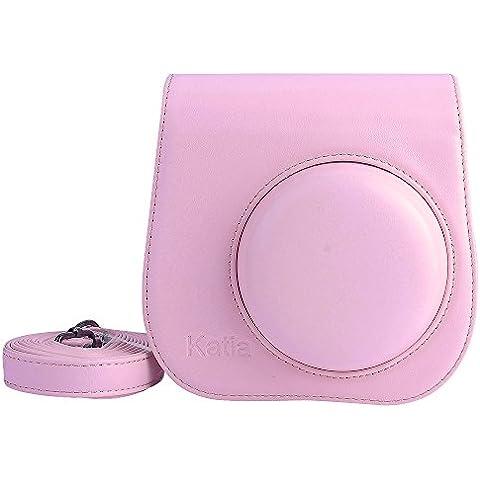 Katia Bolsa de Funda Protectora para Fujifilm Instax Mini 8 Camara Cuero Sintetico PU (Rosa)
