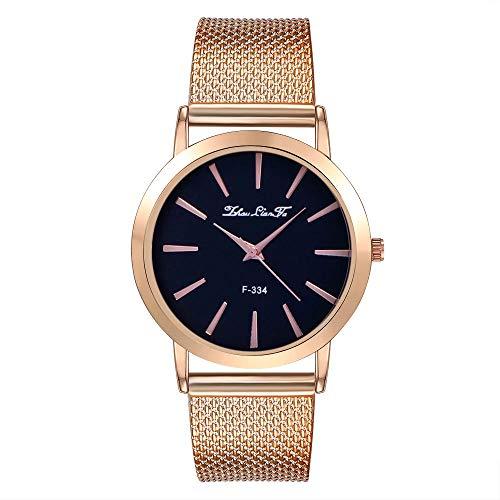 Uhren Damen Armbanduhr Frauenmode Luxus Freizeit Schneckenwelle Silikonband Edelstahl Quarz Uhr Klassisch Uhr für das Festivalgeschenk,YpingLonk