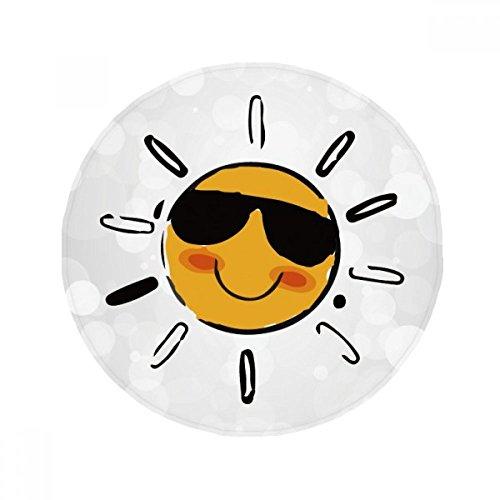 DIYthinker Sonnenbrille Wetter Sun Illustration Muster Anti-Rutsch-Boden Haustier-Matten Runde Badezimmer Wohnzimmer Küche Tür 60/50cm Geschenk 60X60Cm Mehrfarbig