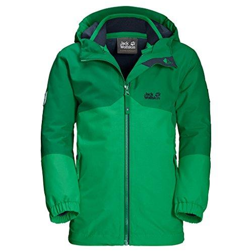 Jack Wolfskin Jungen B Iceland 3-in-1 Jacket 3-in-1 Jacke, Evergreen, 152