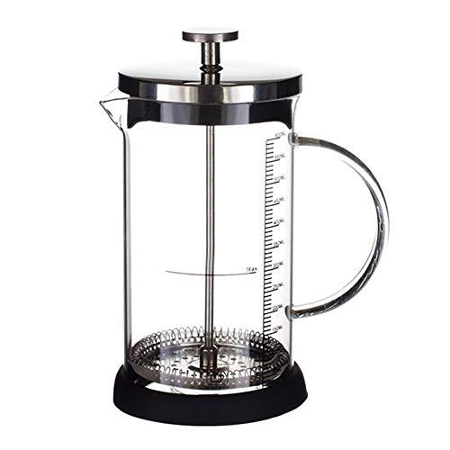 DuDuDu Francés presiona pote Vidrio café Inicio Prensa cafetera Resistente al Calor Taza de café té Filtro 350ML / 600ML