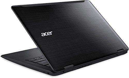 Acer Spin 5 (SP513-51-3466) 33,8 cm (13,3 Zoll Full HD IPS) Convertible Notebook (Intel Core i3-6100U, 4GB RAM, 128GB SSD, Intel HD Graphics, Win 10 Home) schwarz -