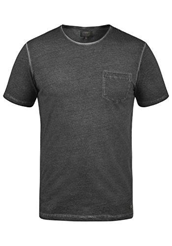 PRODUKT Pancho Herren T-Shirt Kurzarm Shirt Mit Rundhalsausschnitt Aus 100% Baumwolle, Größe:M, Farbe:Black - Hauch-sticks