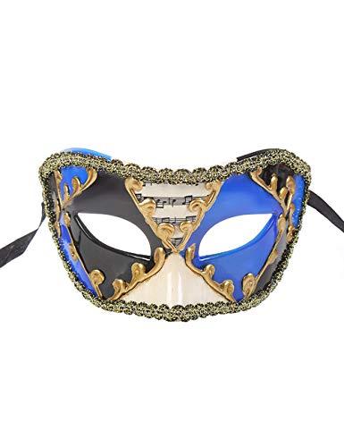 TAAMBAB Venezianische Maske Im Klassischen Stil Mens Woman Kostüme Mardi Gras Mask Partei Maskerade Maske Griechisch Römische Halloween Maske Karneval Maske für Hochzeitsfeier Kostümzubehör