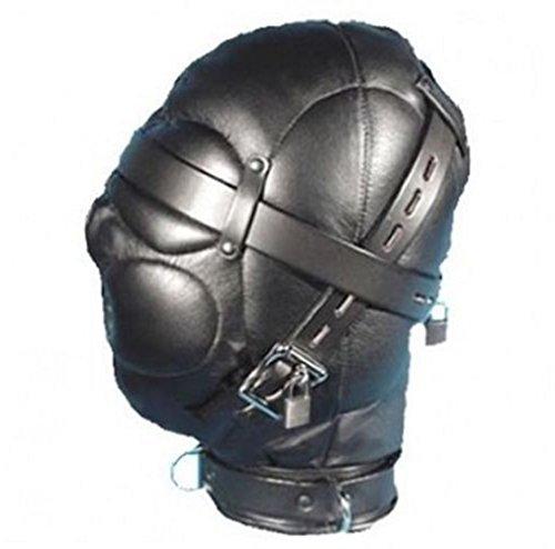 raycity schwarz Leder Kostüm Gimp Maske Kapuze Stil (Maske Kostüm Gimp)