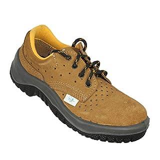 Almar Eco-Almar S1P Eco Business Safety Shoes Flat Braun, Size:39 EU