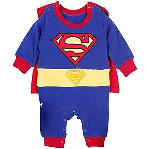 ZEARO Disfraz para Ninos de Superhéroe Superman Cosplay Traje Musculoso
