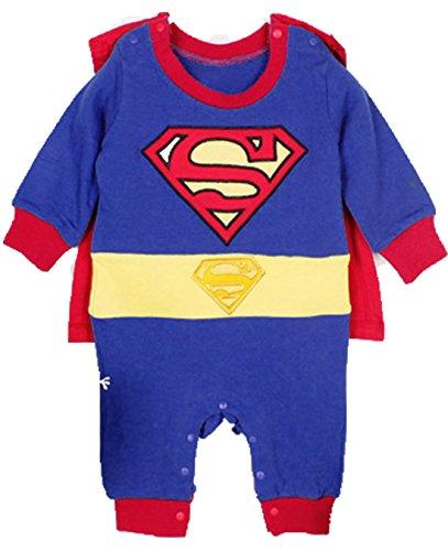 Zearo Overall Baby Baumwolle Kleiner Held Anzug Kleinkind Kostüm Langarm Body Einteiler Bekleidungsset (Kleinkind Einzigartige Kostüme)