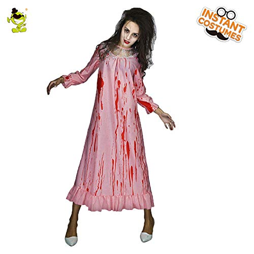 GAOGUAIG AA Frauen Blut Braut Gefälschte Kostüme Halloween Party Maske Scary Bloody Marry Bloody Kleid Cosplay Party Kostüme SD (Color : Onecolor, Size : Onesize)