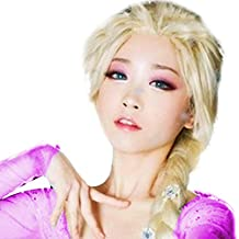 LKKLILY - Peluca trenzada anime princesa Rapunzel Cosplay pelucas largas trenzadas pelo peluca para mujer Halloween