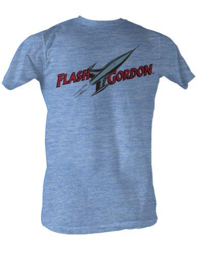 Flash Gordon - Comic Logo Männer T-Shirt In Light Blue Heather, Large, Light Blue Heather (Shirt Flash Light)