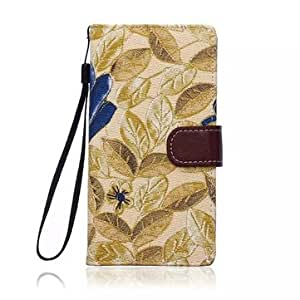 Flower Cloth Wallet Stand Case Cover For Sony Xperia Z4