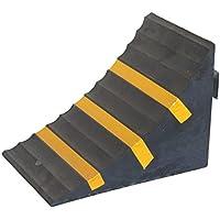 SNS SAFETY LTD RWC-1 Cuña para ruedas de Coches, Goma Servicio Pesado, Amarillo Negro, Dimensiones 25 cm x 16 cm x 19 cm (1)