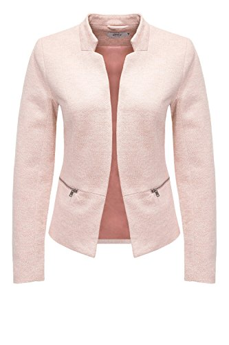 Only Onlstory Mel Zip Cc Tlr, Blazer Donna Rosa (Rose Smoke Detail:melange)