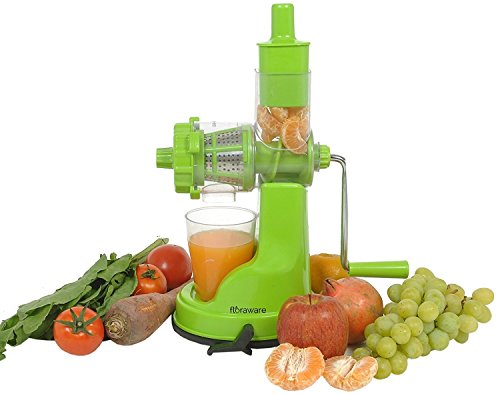 Kuber Industries™ Juicer, Fruit & Vegetable Juicer, Manual Hand Juicer, Fruit Juicer Handel Vacuum Base (green)-jui03