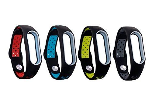 Dingtool Silikon ersetzen Mi Band Armband Ersatz Kompatibel für Xiaomi Mi Band 2 Ersatzband (Nicht für Xiao Mi Band 1S) (styleC)