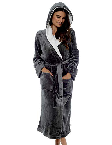 Citycomfort Luxury Dressing Gown Soft Plush Bath Robe Housecoat