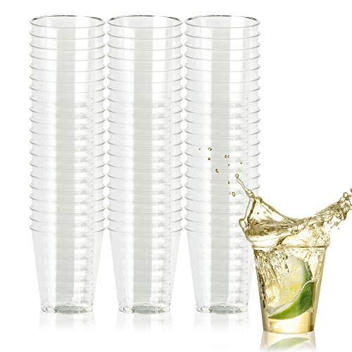 500 Hartplastik Schnapsgläser (30 ml) - Einweg, Wiederverwendbar, Klar wie Glas & Bruchsicher Kunststoff Shotgläser - für Schüsse, Wodka-Gelee, Partys, Hochzeiten, BBQs, Weihnachten - 100% Recycelbar (Schuss Einweg-gläser)