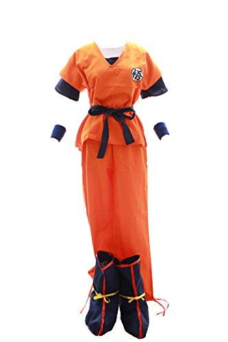 n Goku GO Trainingsanzug Cosplay 6-teilig Kostüm costume (Gr. XL) (Son Goku Kostüme)