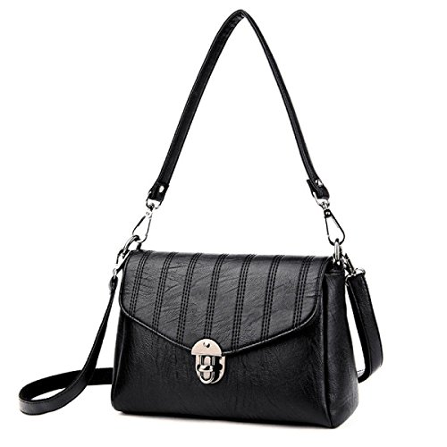 Madre Di Mezza Età Moda Donna Selvatica Spalla Messenger Bag Femmina LightGray